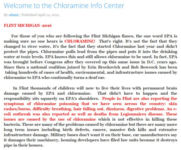 Chloramine Information Center